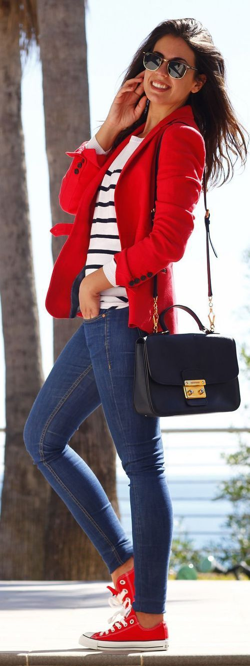 Pop Of Red Pop Of Red Pre Spring Outfit 49189eb2f